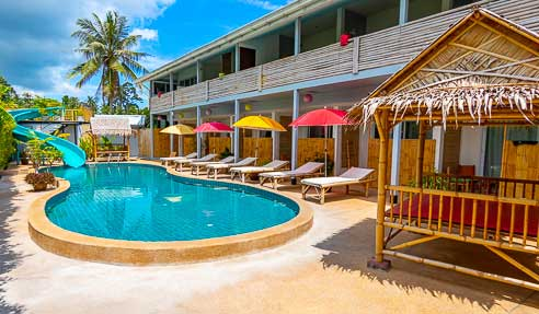 Hotel Moon Flower – Good Location – North Of Koh Samui – Maenam